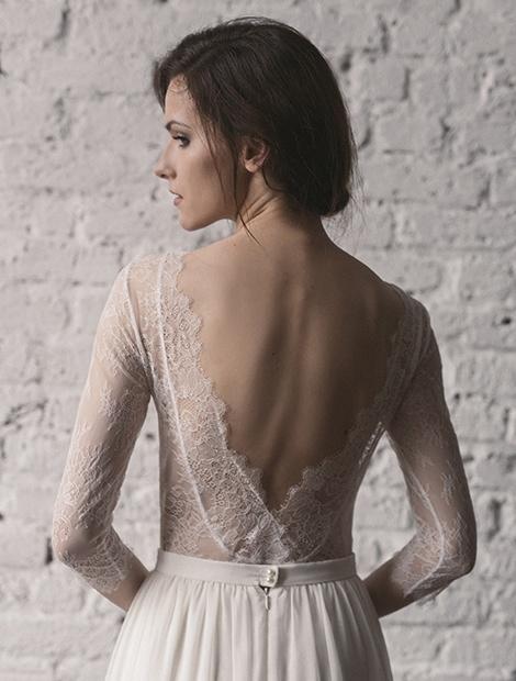 Wyjątkowa, delikatna suknia z odkrytymi plecami. Poznaj suknie Karolina Twardowska Atelier.