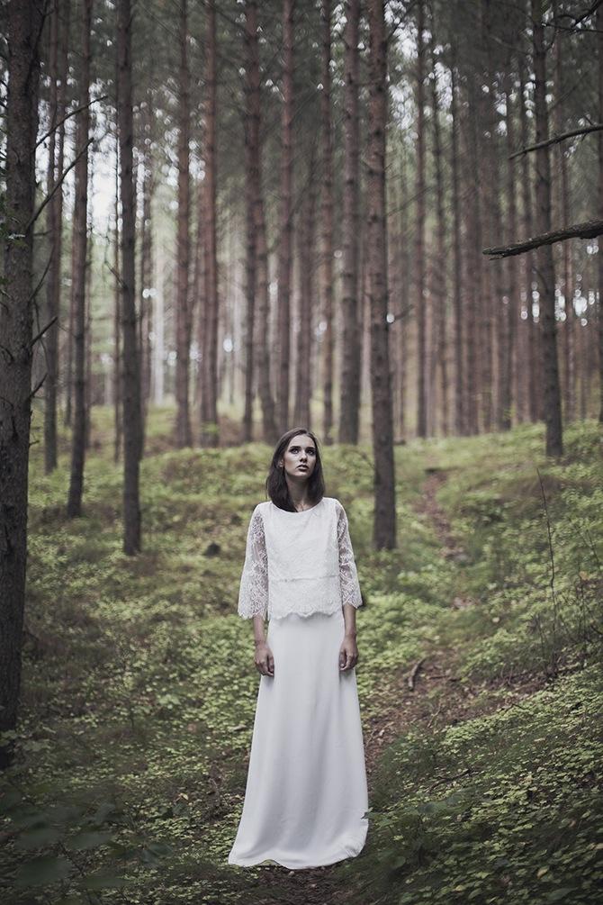 Eteryczna suknia ślubna. Karolina Twardowska Atelier. Kolekcja 2016.